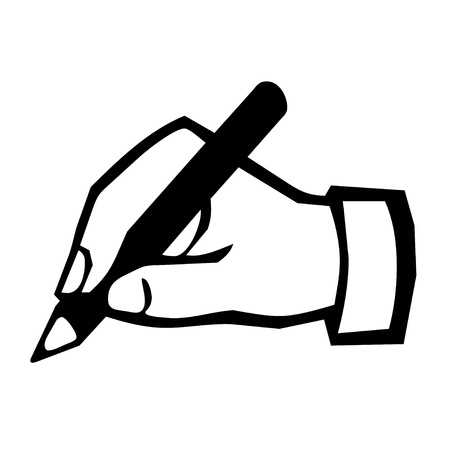 Hand writing icon