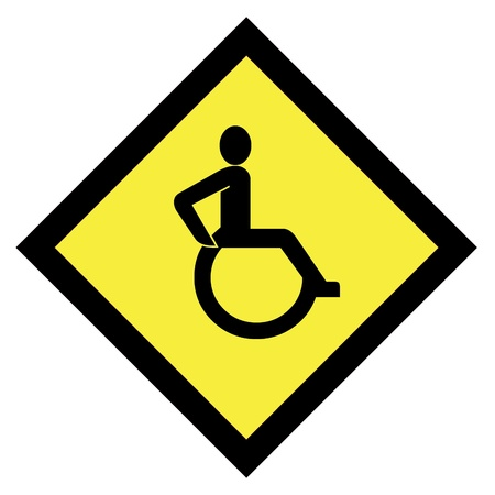 Handicap sign icon