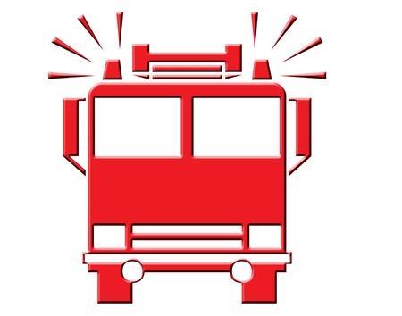 消防車アイコン 写真素材