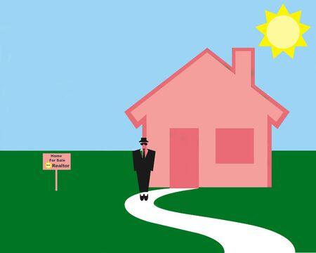 Home for sale illustration Stock Illustration - 11731396