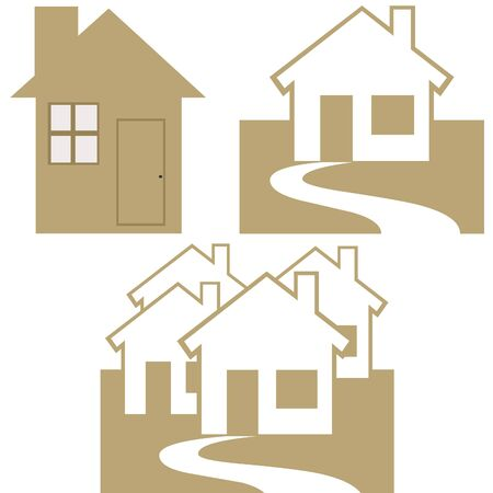 residential homes: Homes icons Stock Photo