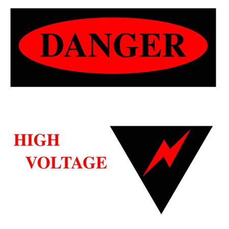 danger: High voltage danger sign illustration