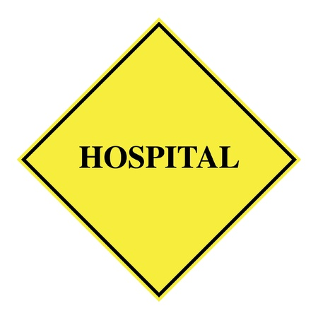 hospital sign: Hospital sign illustration Stock Photo