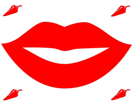 Hot lips illustration