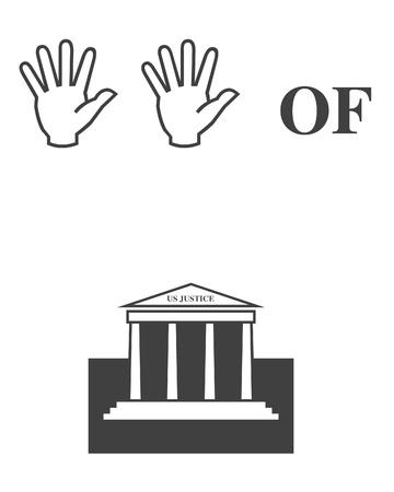 Hands of justice illustration