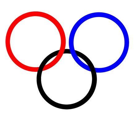 interlocking: Interlocking rings illustration
