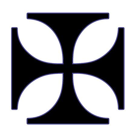 iron cross: Iron cross symbol Stock Photo