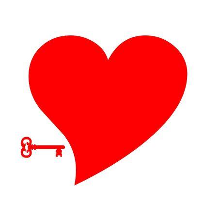 Key to heart illustration