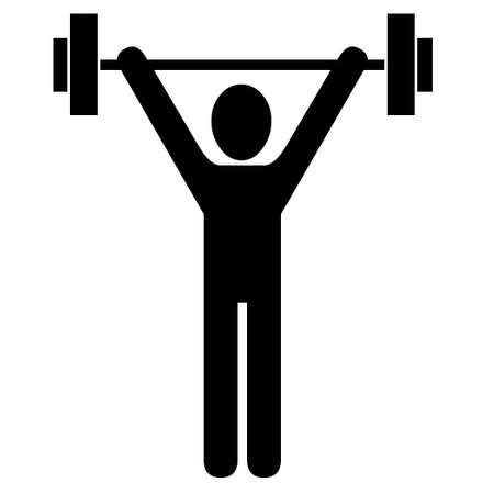 Lifting weights illustration Stock Photo