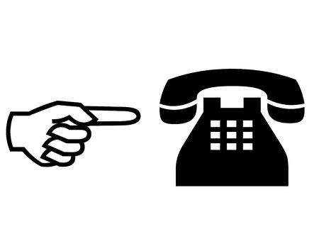 caller: Calling illustration