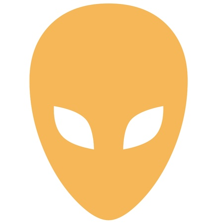 Alien mask icon photo