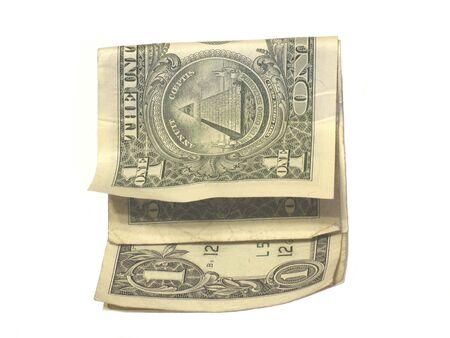 折り畳まれたドル紙幣 写真素材