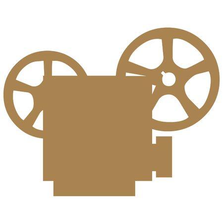 Movie projector icon Stok Fotoğraf