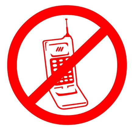 no cell phone: No cell phone symbol
