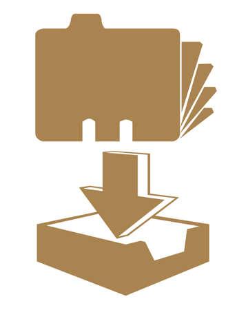 Office-bestanden illustratie