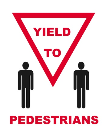 pedestrian sign: Segno illustrazione pedonale