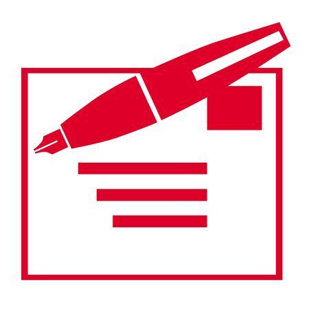 addressed: Penna e illustrazione lettera