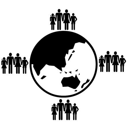 People around the world illustration illustration