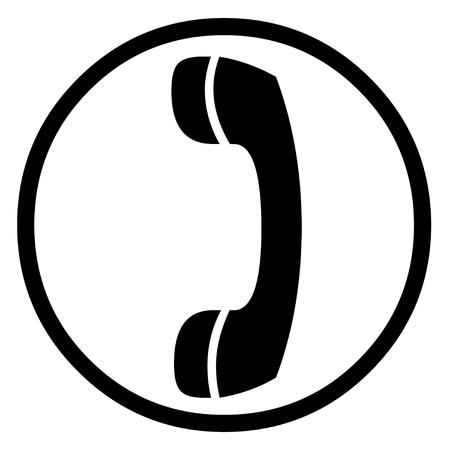 receiver: phone receiver icon Stock Photo