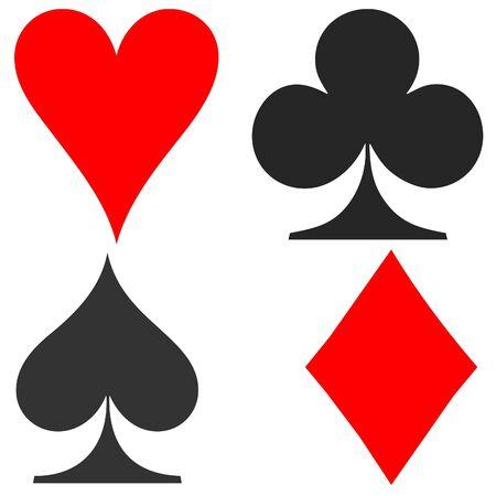Playing card symbols photo