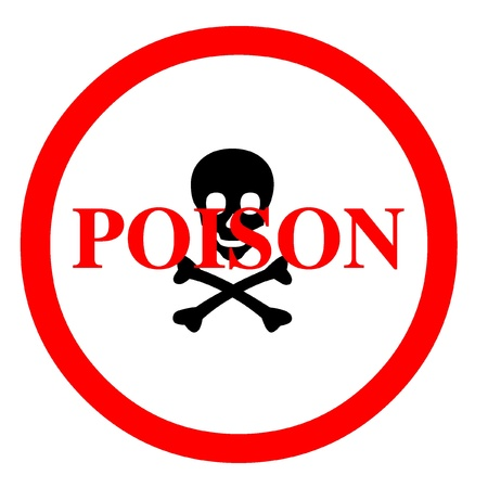poison sign: Poison symbol Stock Photo