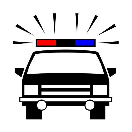 Politie auto icoon Stockfoto