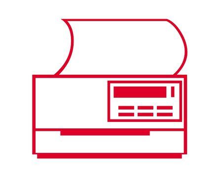 Printer icon 版權商用圖片