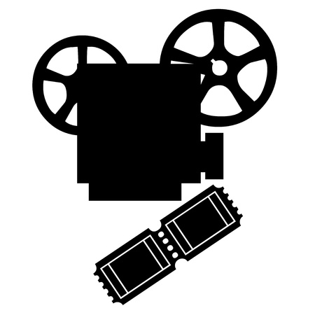 Movie projector and film illustration
