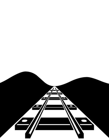rout: Railroad track illustration