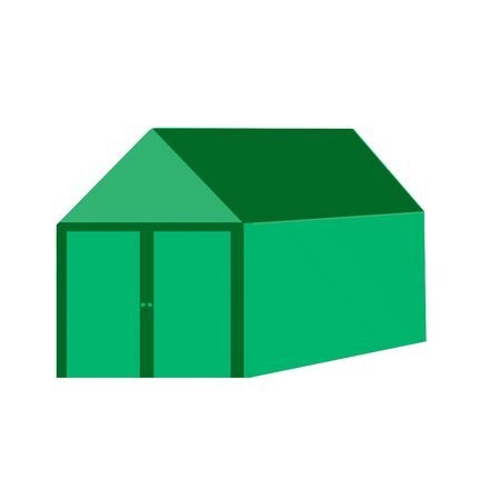 3D Shed illustration