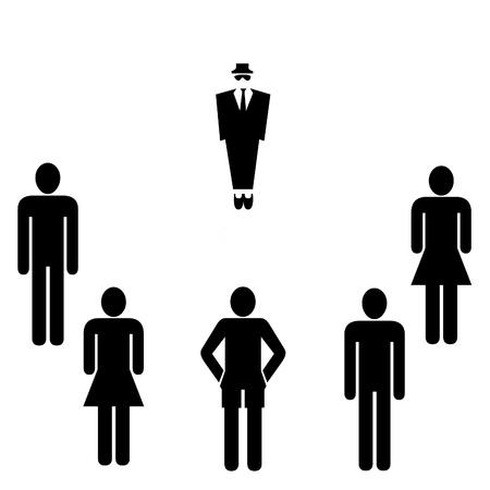 blue collar: Business meeting illustration