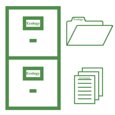 Ecology file cabinet illustration Stock Photo