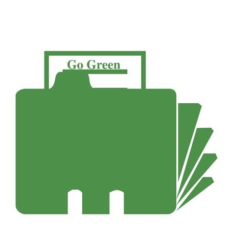 Ga groene map illustratie Stockfoto