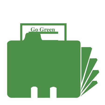 go green: Go green folder illustration