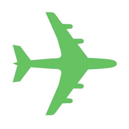 Go green plane icon Stock Photo