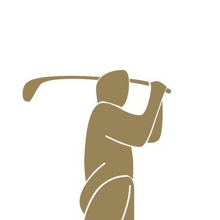 isolated: Golf swing icon Stock Photo