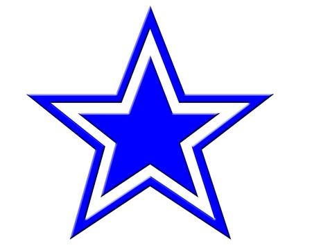 Blue sterpictogram