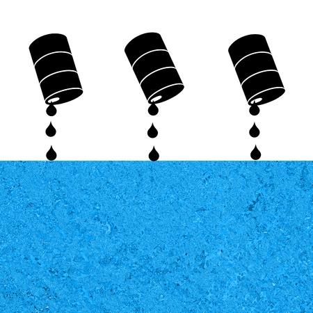 oil spill: Marea nera, illustrazione