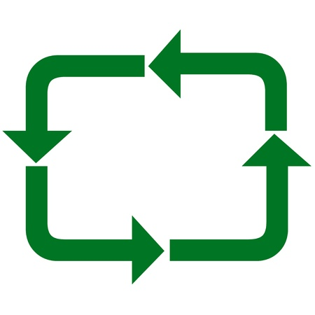 pointed arrows: Recycle arrows icon Stock Photo