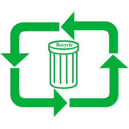pointed arrows: Recycle illustration Stock Photo