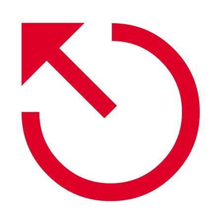 Three quarter circle and pointed arrow arrow icon