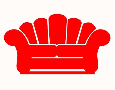 赤いソファ アイコン