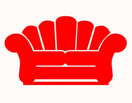 Red couch icon