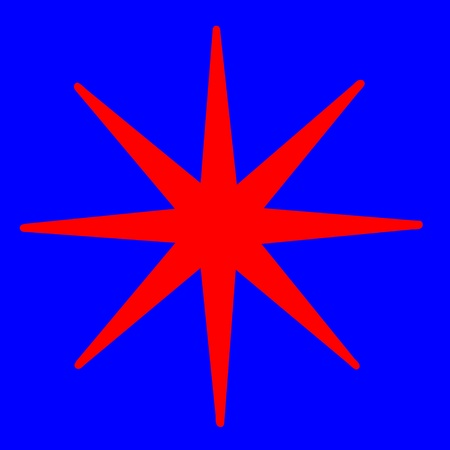 pointed: Pointed red star illustration Stock Photo