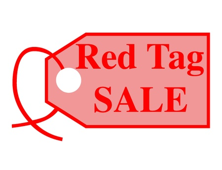 Red tag sale icon