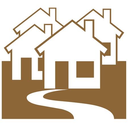 Residential housing illustration Banco de Imagens