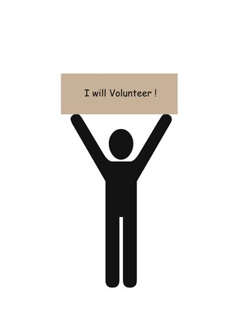 I will volunteer illustration Stock Photo