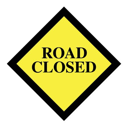 road closed: Road closed sign icon