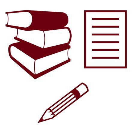 material: School material illustration Stock Photo
