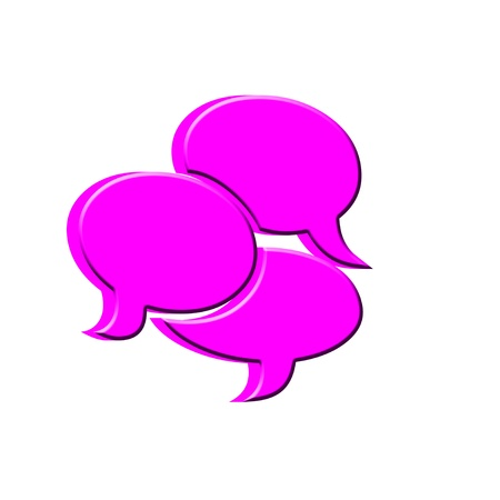 artistic designed: 3D Text bubbles